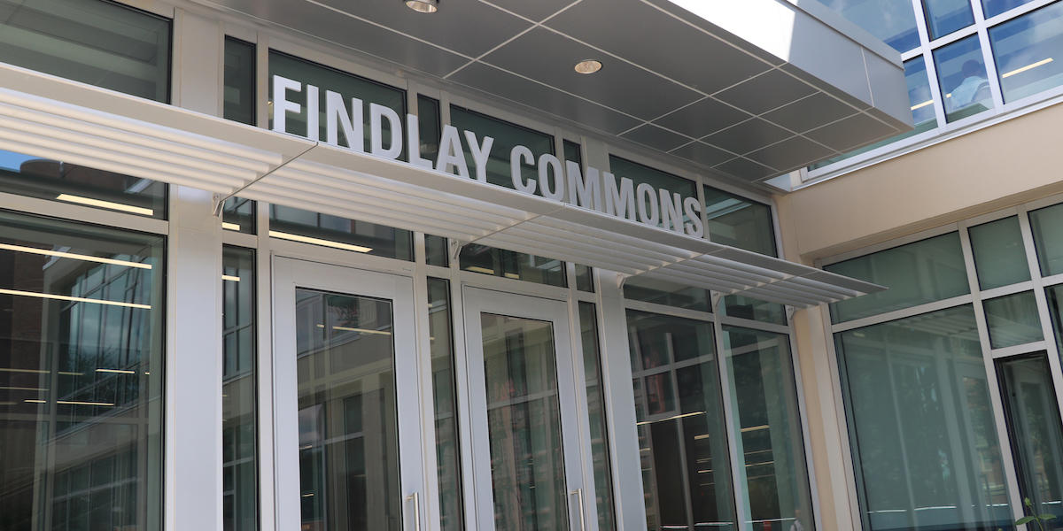 Findlay Commons building entrance