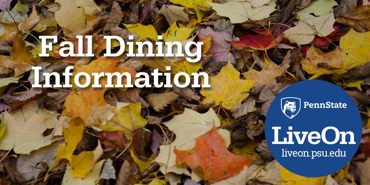 Fall Dining Info Leaves